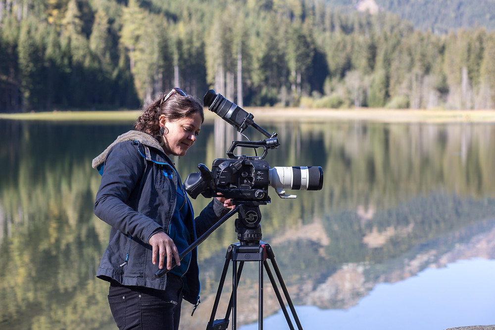 AVbaby Andrea Eidenhammer, Camera woman, at work