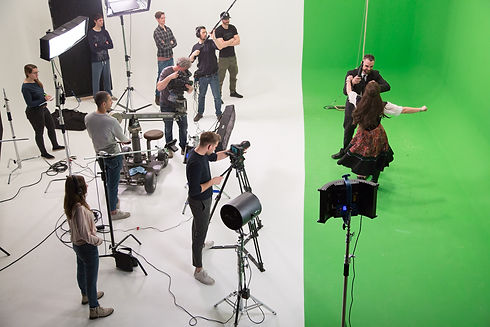 AVbaby Filmstudio Greenscreen Aufnahme Action Shoot