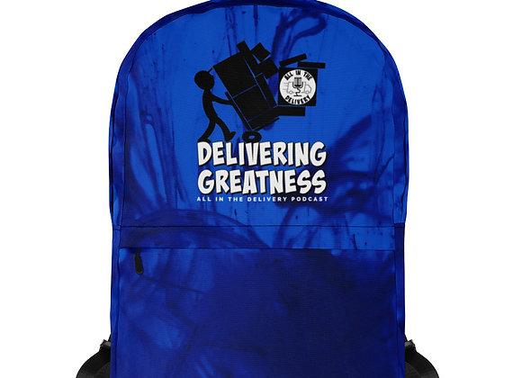 Delivering Greatness Blue Backpack
