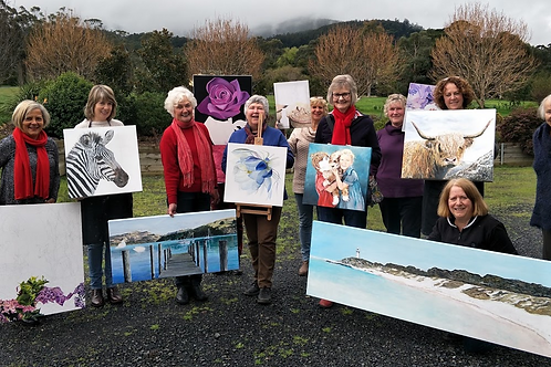 Warburton Painting Class - back to ZOOM Tuesdays
