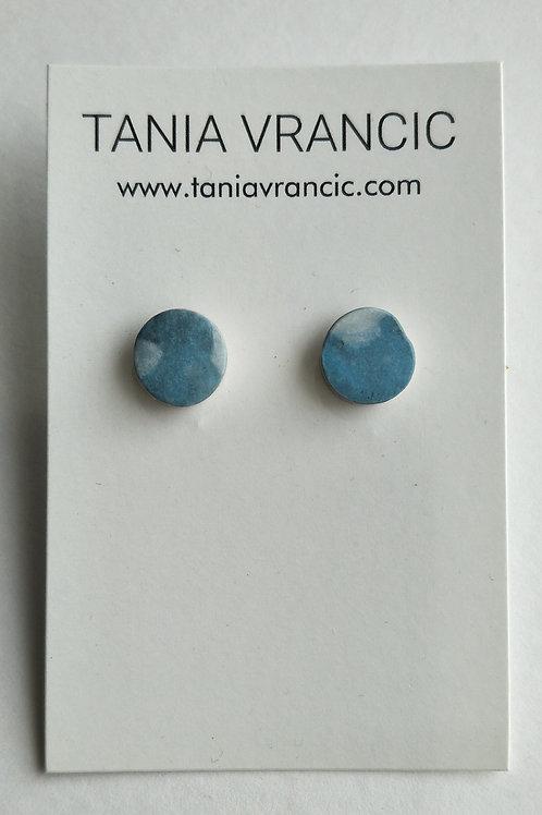 Tania Vrancic | Printed Porcelain Tiny Studs Blue White