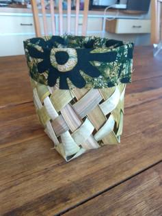 Flax square round basket