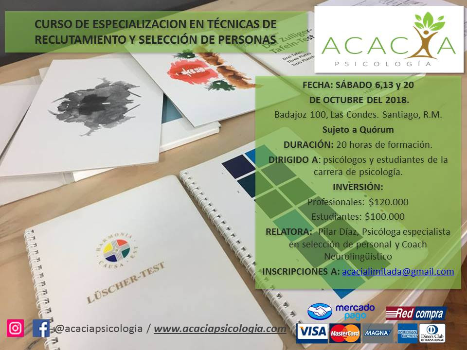 CURSO DE ESPECIALIZACION EN TÉCNICAS DE RECLUTAMIENTO Y SELECCION DE PERSONAS