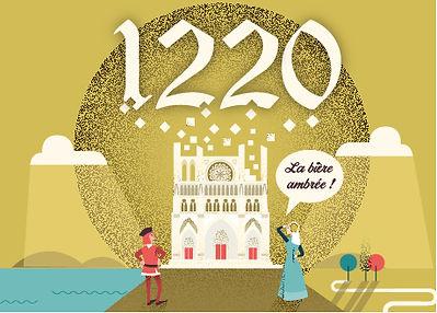 Bière ambrée 1220 - Brasserie Ambiani
