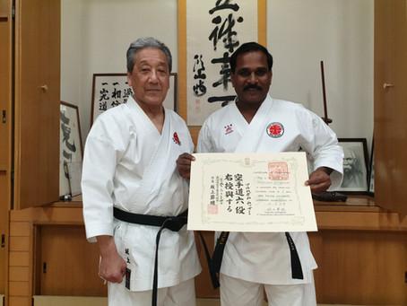 Taking High Ranking Belt Test in Japan