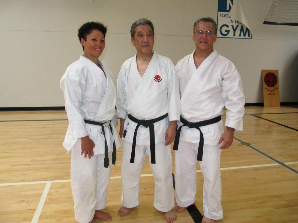 Soke Sakagami with Sensei Joni and Sensei Alan