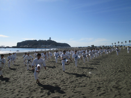 Beach Training was held in Enoshima, Japan