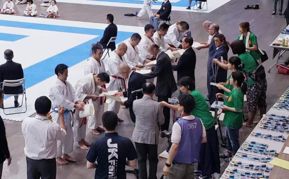 Award Ceremony in Japan Karatedo Rengo-kai Championships