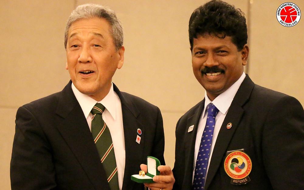 Soke Sakagami and Sensei R.J.Alexander (Sri Lanka)