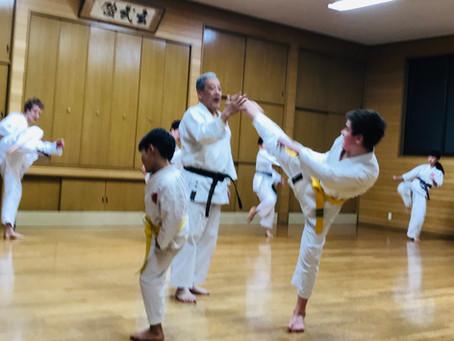 11 years old boy traveled to Japan to practice at Itosu-kai Headquarters!