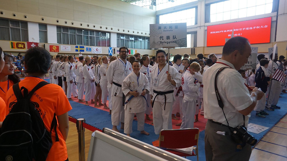 Team Australia at Itosu-ryu Karatedo International Championships