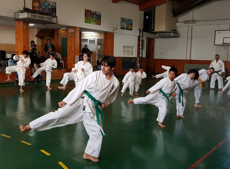 Kyu degree exam and a class in Argentina