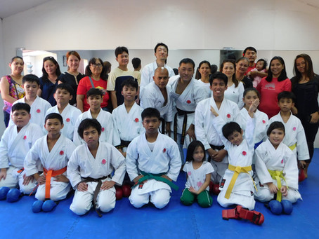 TWO JAPANESE INSTRUCTORS CONDUCTED KATA AND KUMITE CLASS IN THE PHILIPPINES
