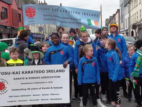 Ballinasloe Dojo takes part in the St. Patricks Day Parade