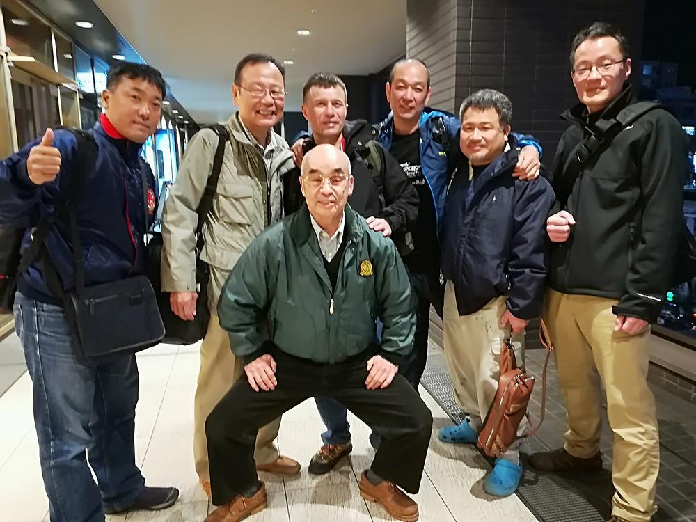 With the members of Itosu-kai Headquarters