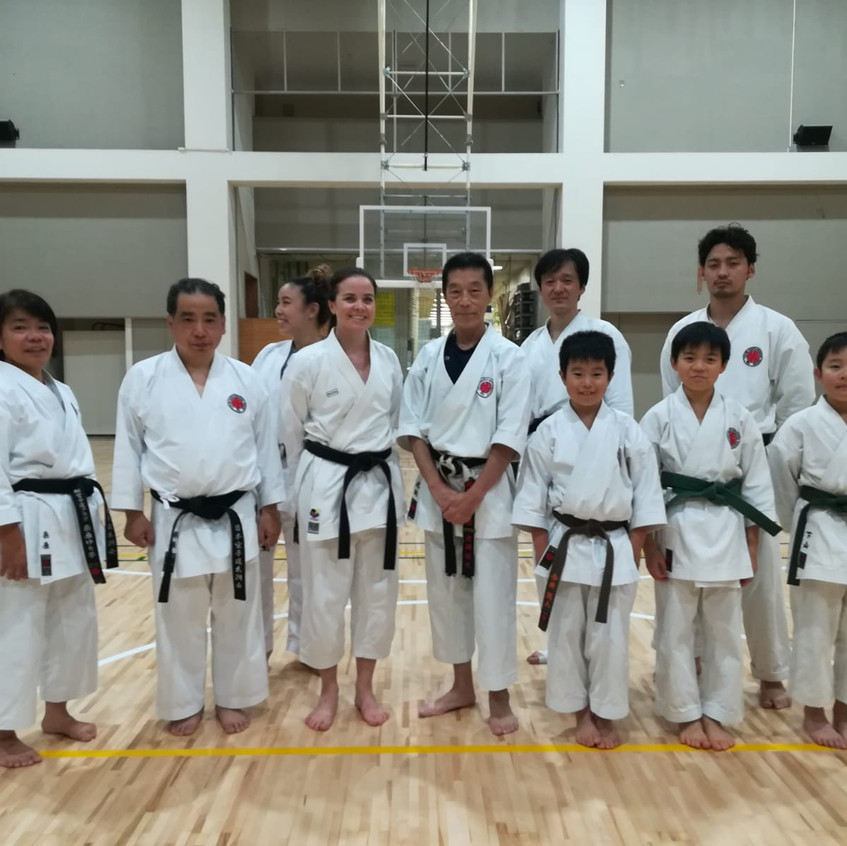 With Itosu-kai members in Japan