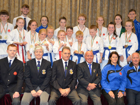 Itosu-kai Ireland (IKKI) attend the O.N.A.K.A.I National Junior Kata Championships 2018