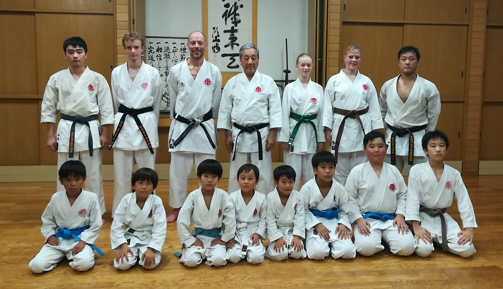 Soke Sakagami and Swedish members