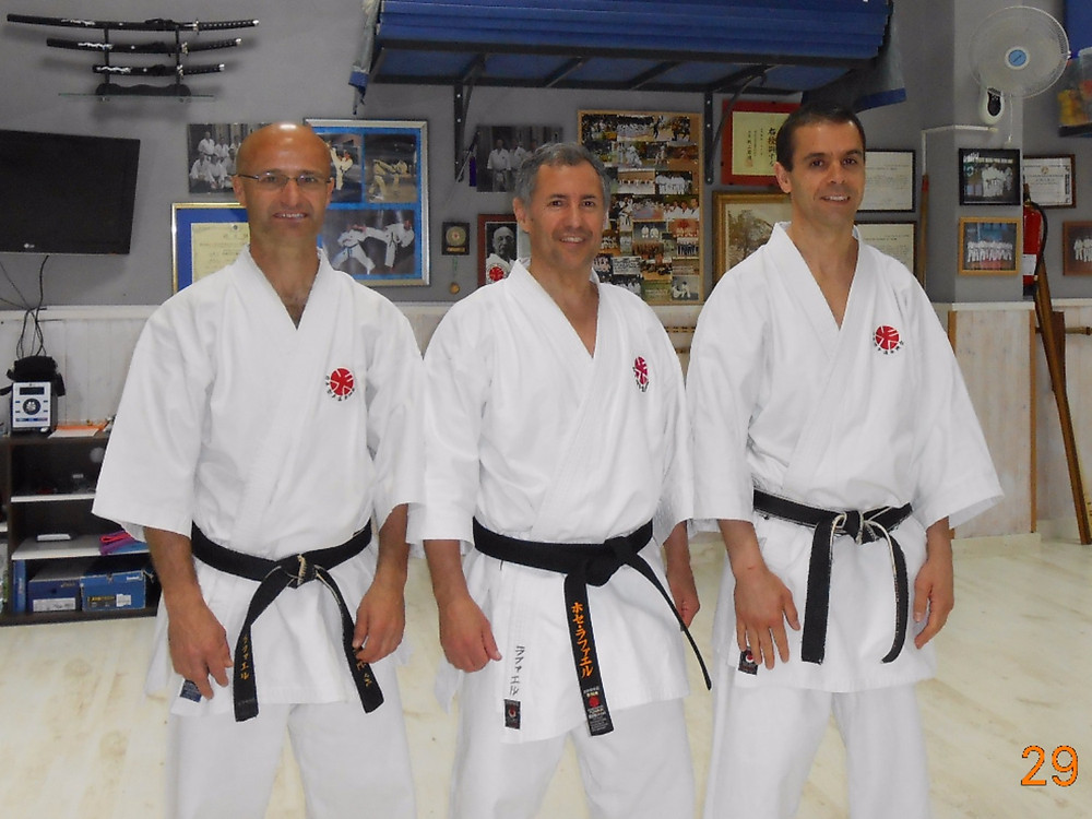Sensei Jose Rafael Conejo Ruíz and the members of Itosu-kai Spain