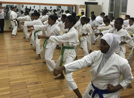 Karatedo instruction in Republic of Djibouti in Africa. ジブチ共和国空手道指導