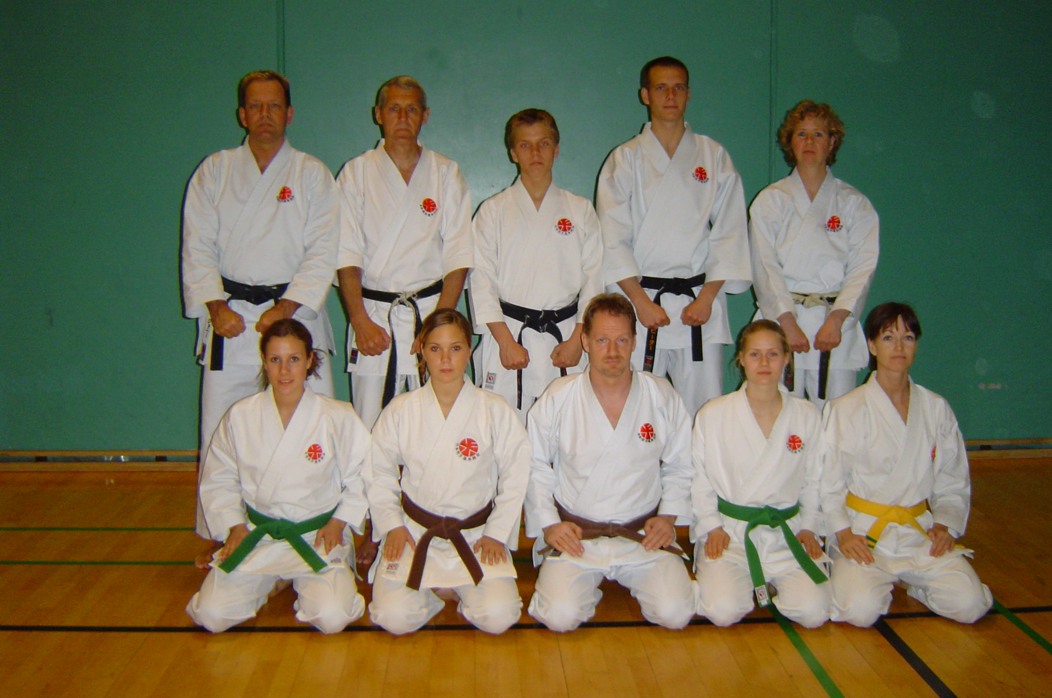 Group picture Group Picture - Only Black belts - Johnny, Sensai Poul, Dennis, Peter and Sensai Anne