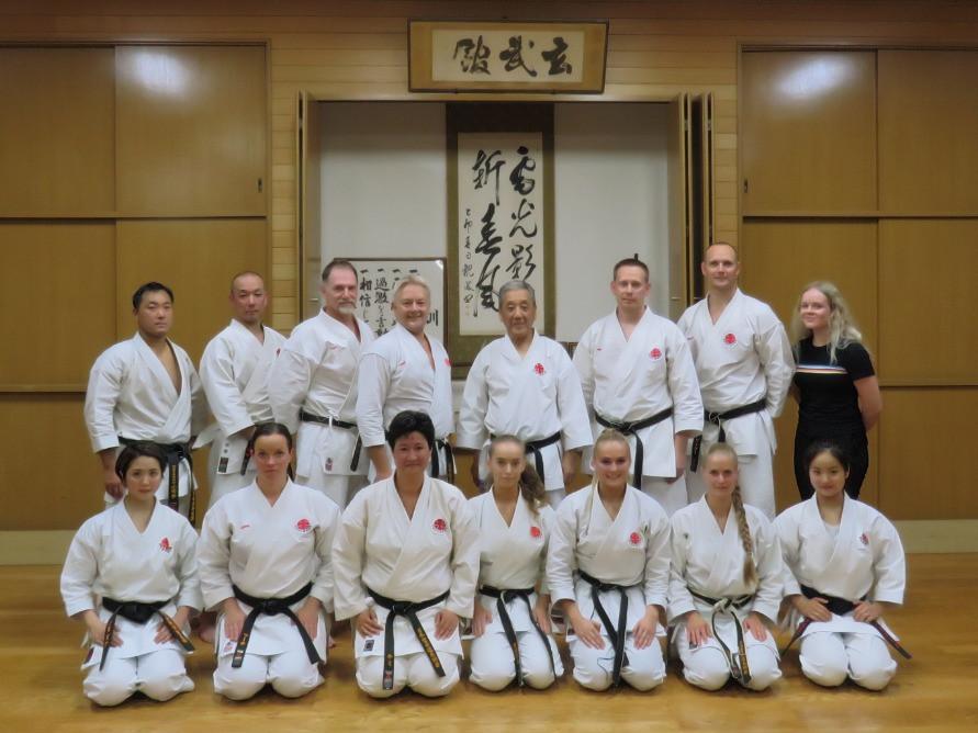 Students from Itosu-kai Denmark and Soke Sakagami