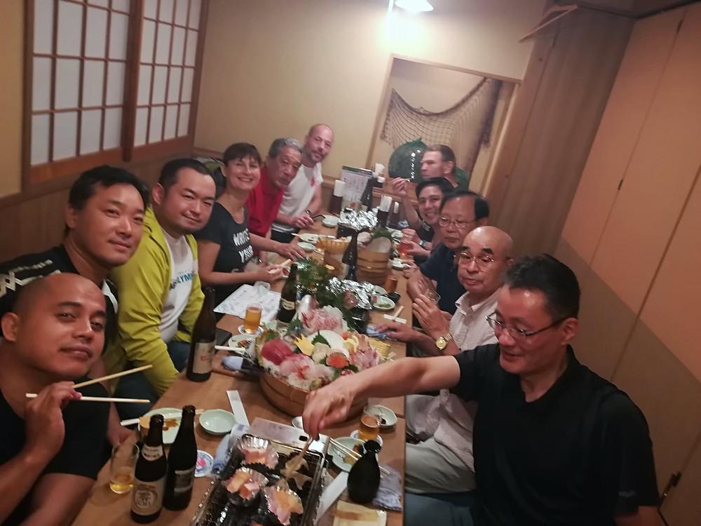 Dinner with members of Itosu-kai Headquarters