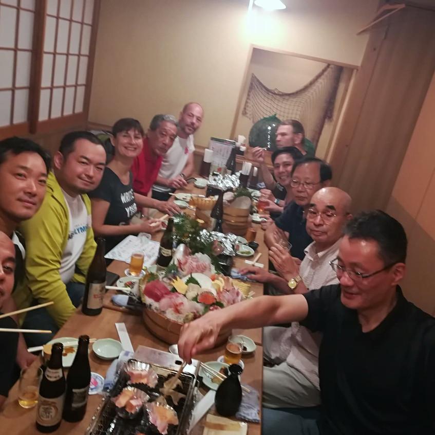 Dinner Party with Itosu-kai members