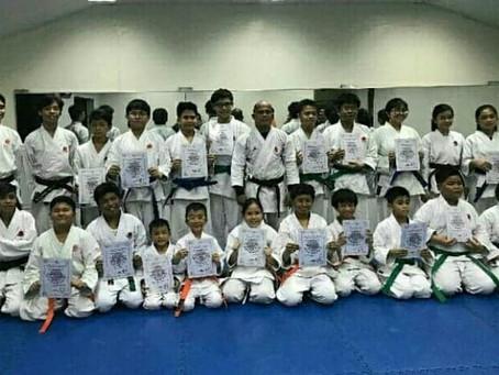 Kyu test was held in Philippines branch