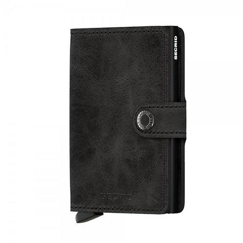 Secrid Miniwallet Vintage Black Portemonnaie