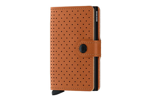 Secrid Miniwallet Perforated Cognac Portemonnaie