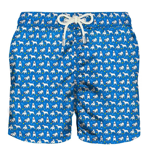 MC2 ST. BARTH BADEHOSEN ALLOVER DOG PRINT