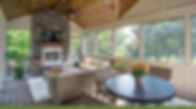 Covered porch home addition and remodel
