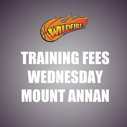 Training Fees - Wednesdays at Mount Annan