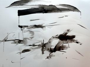 Flow Country ink study V - Heather Lander