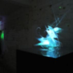 Screen sculpture by Heather Lander