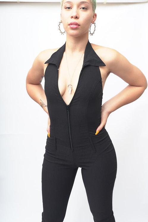 Size S-L Foxy Black Cat Suit