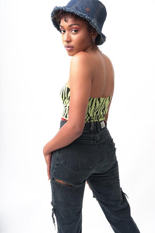 Size 2 Bongo Distressed Vintage Black Jeans