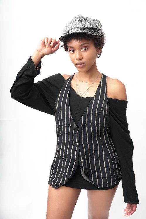 Size S/M 90s Vintage Striped Vest