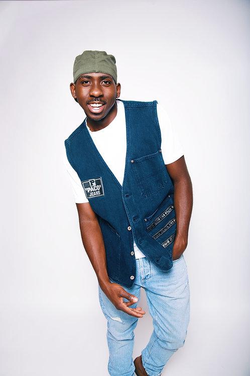 Size L/XL Oversized Denim Vintage Vest