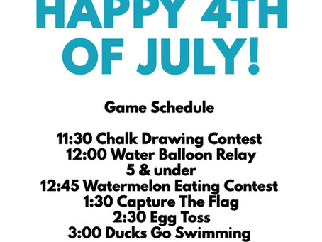 JOIN US FOR 4TH OF JULY