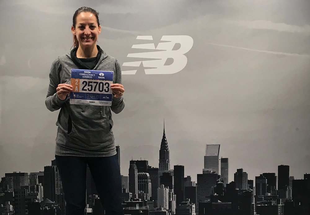check-in at the NYC marathon