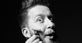 rosto de barbear homem