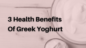 3 Health Benefits Of Greek Yoghurt