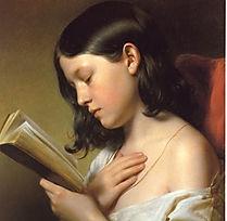 Franz Ebyl  Fanciulla che legge 1850.jpg