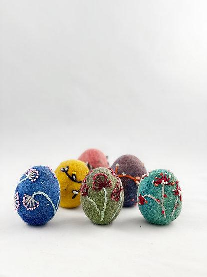 Felt Eggs