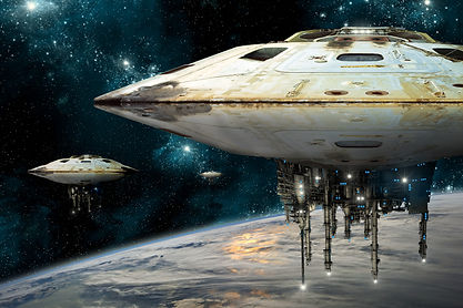 A composite image depicting a fleet of m