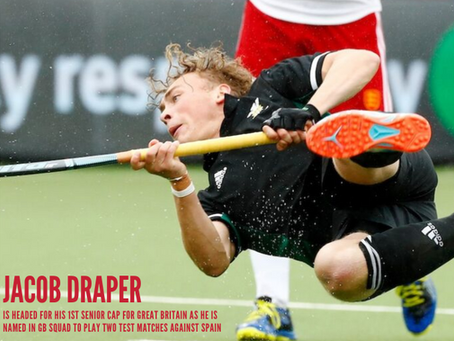 DRAPER MAKES THE CUT FOR GREAT BRITAIN AGAINST SPAIN