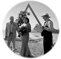 Black & White wedding on the beach