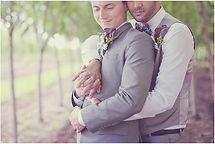 Two guys hugging, www.emc.wedding
